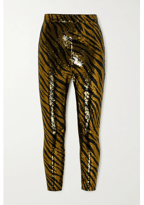 Balenciaga - Sequined Stretch-jersey Leggings - Gold