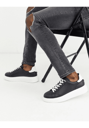 Pull&Bear trainers with chunky sole in black
