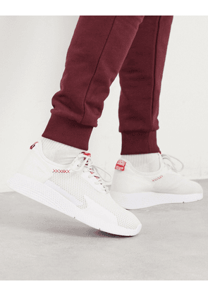 Pull&Bear mesh trainer with reflective detail in white