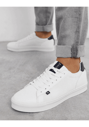 River Island Maison Riviera trainers in white with woven panels