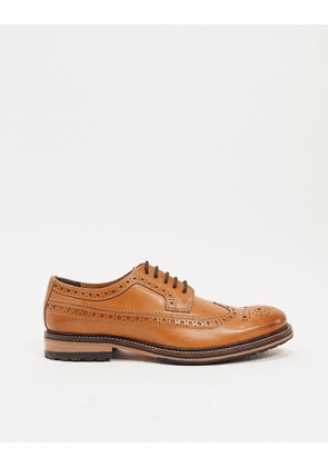 River Island leather derby in brown