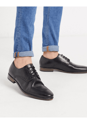 River Island derby shoes in black with contrast sole