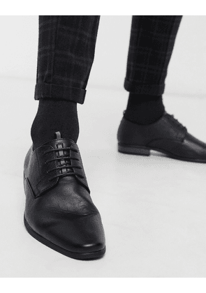 River Island derby shoes with embossing in black