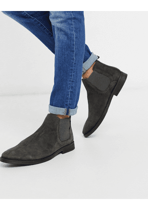 River Island suede Chelsea boot in grey