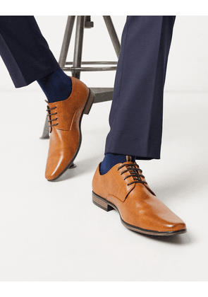 River Island derby with embossing in brown