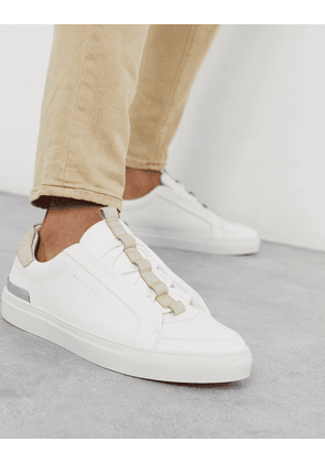 River Island lace cupsole trainers in white
