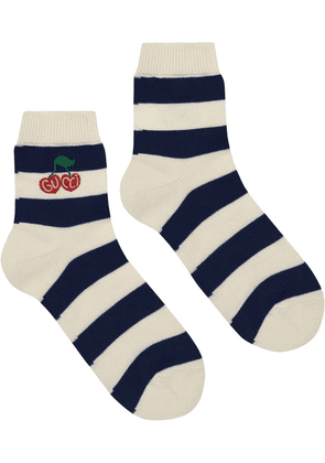 Gucci knitted cherry socks - White