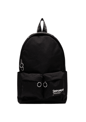 Off-White quote-print backpack - Black