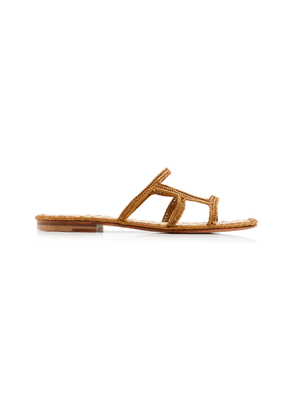 Carrie Forbes Zineb Raffia Slide-On Sandals