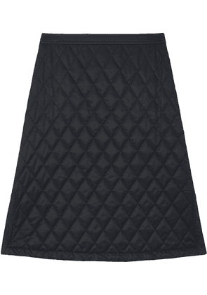 Burberry diamond quilted A-line skirt - Black