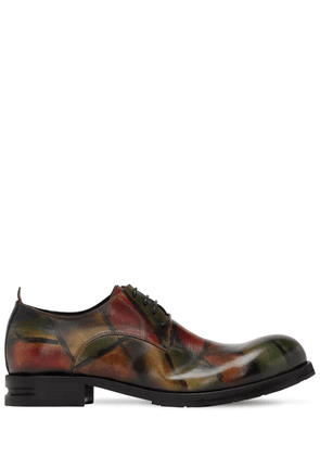Hand-painted Leather Lace-up Shoes