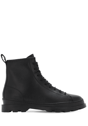Full Leather Lace-up Boots