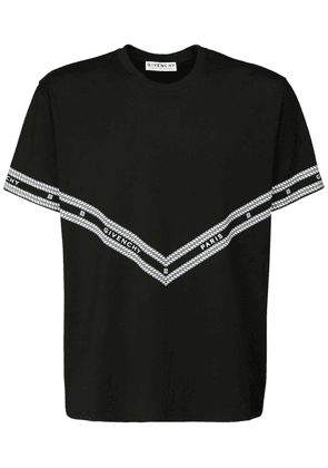 Logo Chain Print Cotton T-shirt