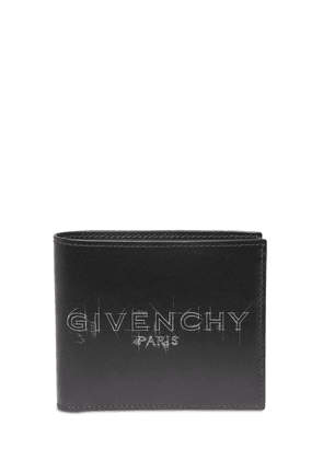 Logo Sketch Billfold Leather Wallet
