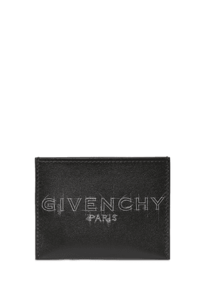 Logo Sketch Leather Card Holder