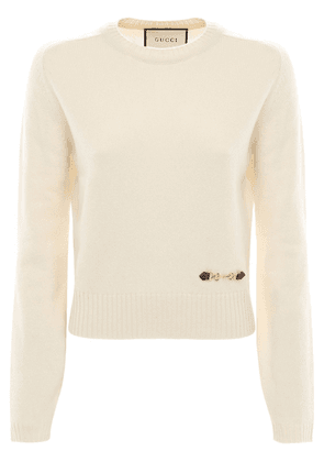 Cashmere Knit Sweater W/ Horsebit