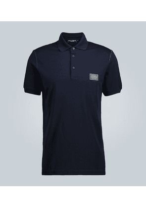 Plaque polo shirt