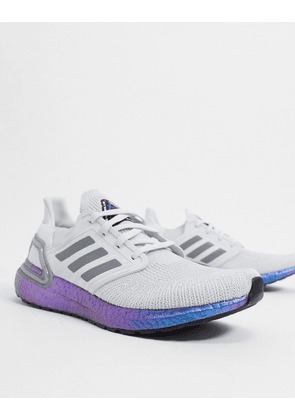 adidas Ultraboost trainers in dash grey & boost blue violet