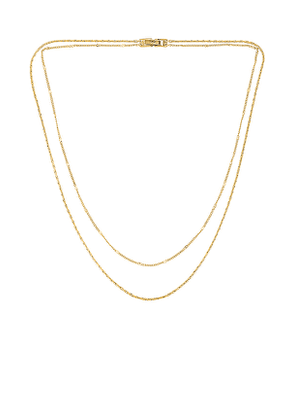 Jenny Bird Double Layer Necklace in Metallic Gold.