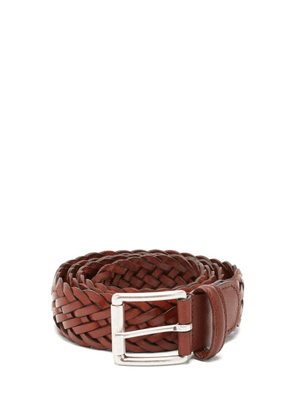 Anderson's - Woven-leather Belt - Mens - Brown