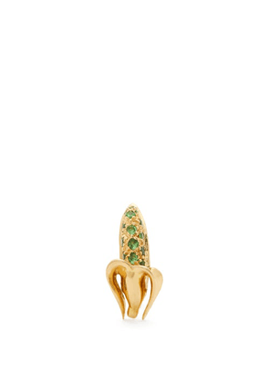 Bibi Van Der Velden - Banana Tsavorite & 18kt Gold Single Earring - Womens - Green Gold