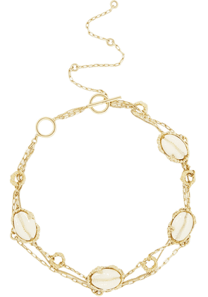 Ellery Lunation Gold-plated, Resin And Shell Choker Woman Gold Size --