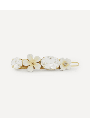 Lucy Floral Crystal Barrette Hair Clip