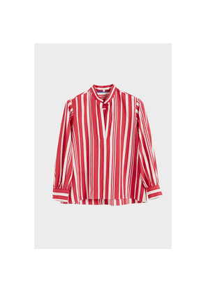 Chinti & Parker Red Striped Parasol Blouse