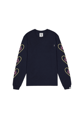 Billionaire Boys Club Heart And Mind Navy Cotton Top