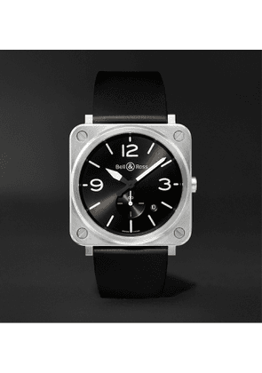 Bell & Ross - BR S 39mm Steel and Rubber Watch, Ref. No. BRS‐BLC‐ST - Men - Black