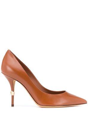 Dolce & Gabbana stiletto heal pumps with gold detailing - Brown