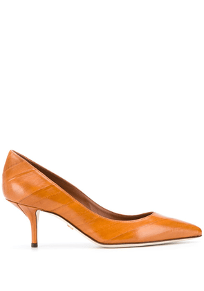 Dolce & Gabbana pointed-toe leather pumps - Brown