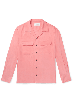 EQUIPMENT - The Original Camp-Collar Twill Shirt - Men - Pink