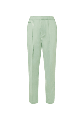 EQUIPMENT - The Original Tapered Pleated Lyocell and Cotton-Blend Twill Trousers - Men - Green