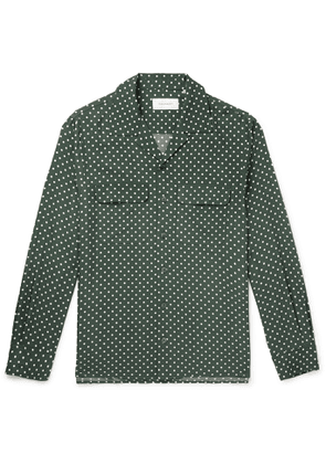 EQUIPMENT - The Original Slim-Fit Camp-Collar Washed-Silk Shirt - Men - Green