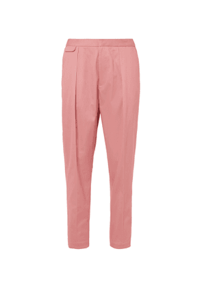 EQUIPMENT - The Original Tapered Pleated Lyocell and Cotton-Blend Twill Trousers - Men - Pink