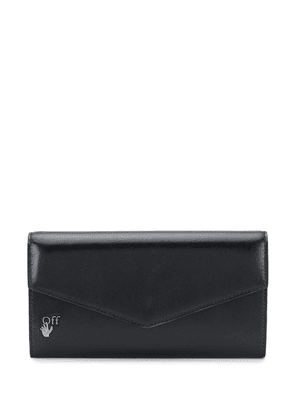 Off-White leather flap wallet - Black