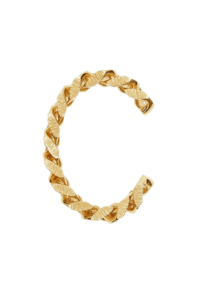 Burberry chain link textured cuff - GOLD