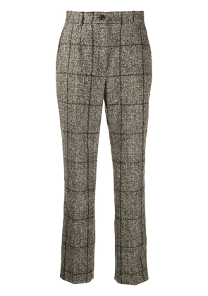 Dolce & Gabbana plaid-check tailored trousers - Neutrals