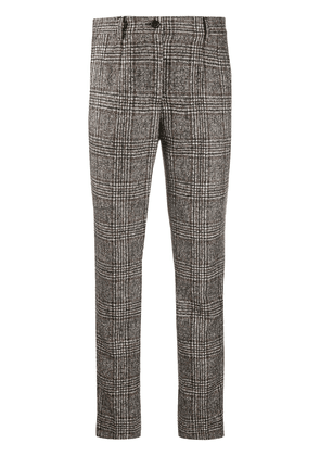 Dolce & Gabbana checked slim-fit trousers - Brown