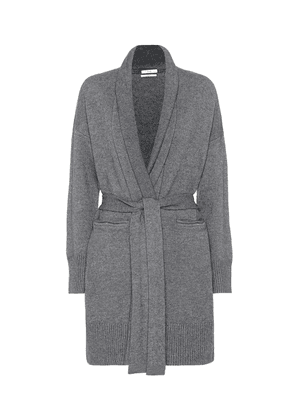 Belted wool and cashmere cardigan