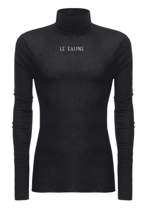 Faune Print Viscose Blend Turtleneck