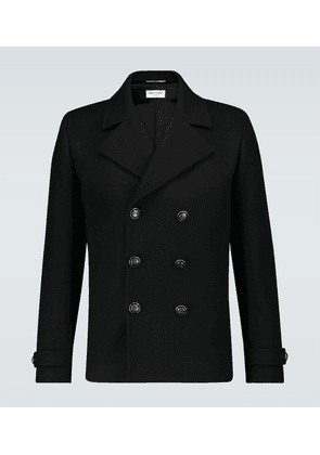 Double-breasted wool jacket