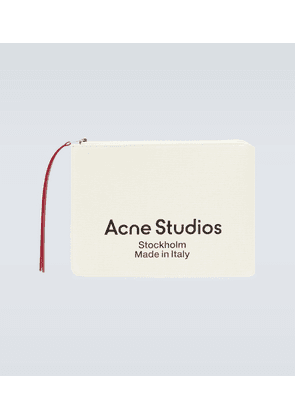 Malachite large canvas logo pouch