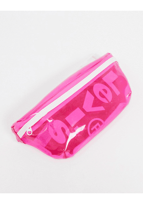 Levi's clear bumbag in pink