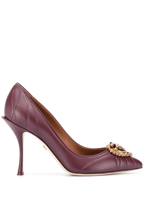 Dolce & Gabbana Devotion leather pumps - PURPLE
