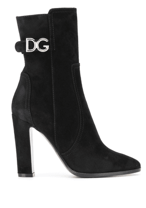 Dolce & Gabbana DG-logo leather boots - Black
