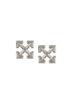 Off-White EXTRA SMALL ARROW EARRINGS SILVER NO COL