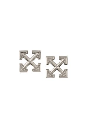 Off-White mini Arrow stud earrings - SILVER