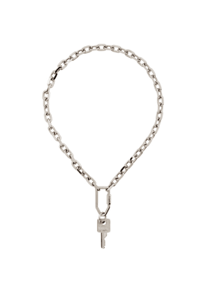 Off-White Silver Keychain Necklace